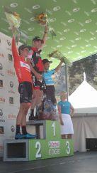 Eric Heiden snaps a pic of the Stage 2 Winners. Good day for BMC