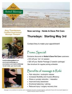 Amy's Animal Massage & Reiki
