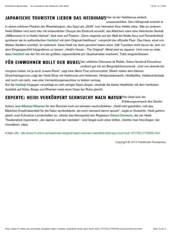 Frankfurter Rundschau - So vermarkten die Schweizer ihre Heidi_Seite_2