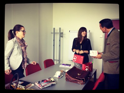 Meeting bei Victorinox mit Freund André Thomas