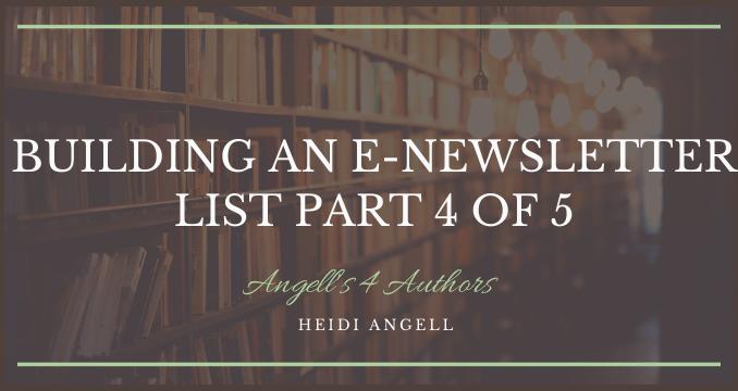Building an E-newsletter List part 4 of 5