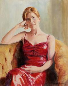 Bronwen - a portrait in oil on canvass by Heidi Beyers