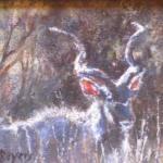 Kudu 2 - An oil painting by Heidi Beyers