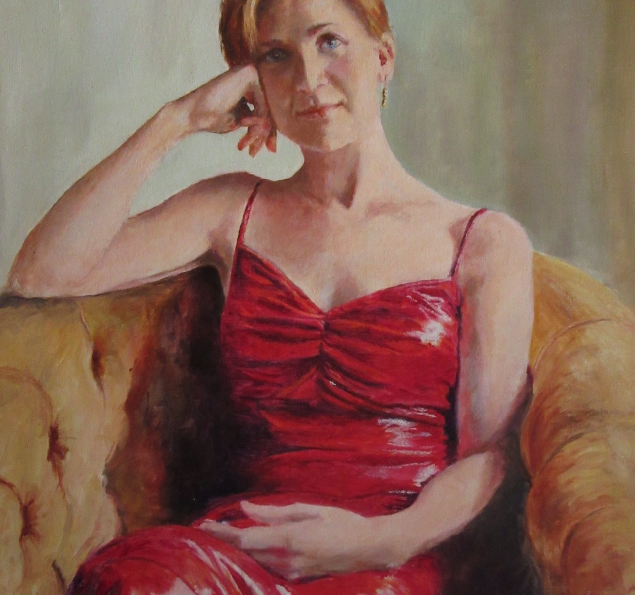 Bronwen in Red - A Portrait by Heidi Beyers
