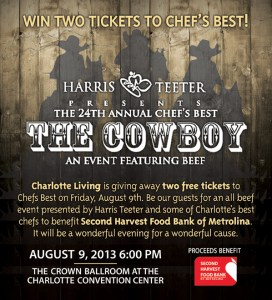 Win Two Tickets to the 24th Annual Chef's Best Dinner compliments of Charlotte Living Magazine