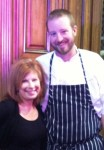 Heidi Billotto and chef Ben Philpott