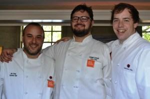 Chefs Jon Fortes, Joe Cornett and Thomas Marlow