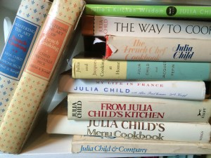 Heidi Billotto's much loved and much used collection of Julaa Child cookbooks