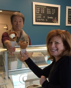 I just adore the light and crispy waffle cones at Elizabeth Creamery some of the best I have ever tasted!