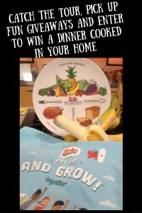 Catch the tour, pick up fun giveaways and enter to win a dinner cooked in your home