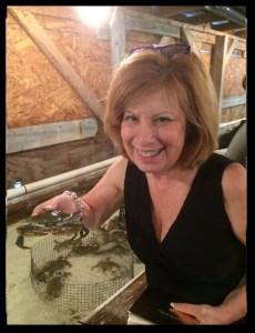 heidi holding crab