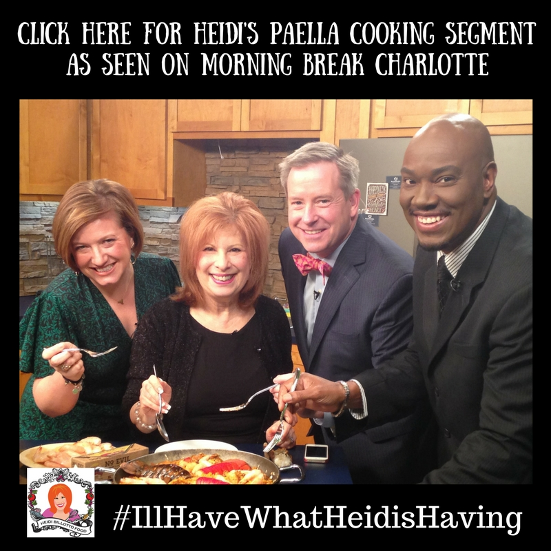 Click Here for Heidi's Paella Cooking Segment As Seen on Morning Break Charlotte