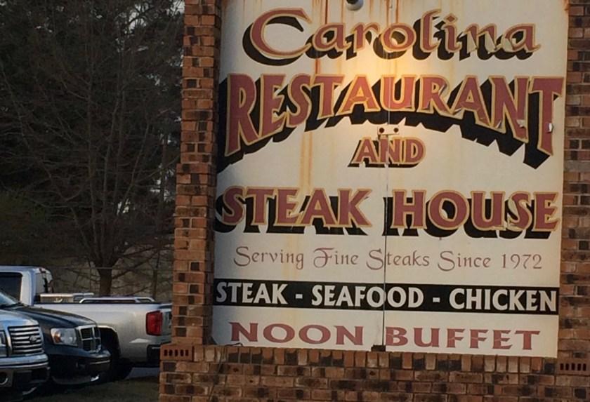 Carolina steakhouse restaurant sign