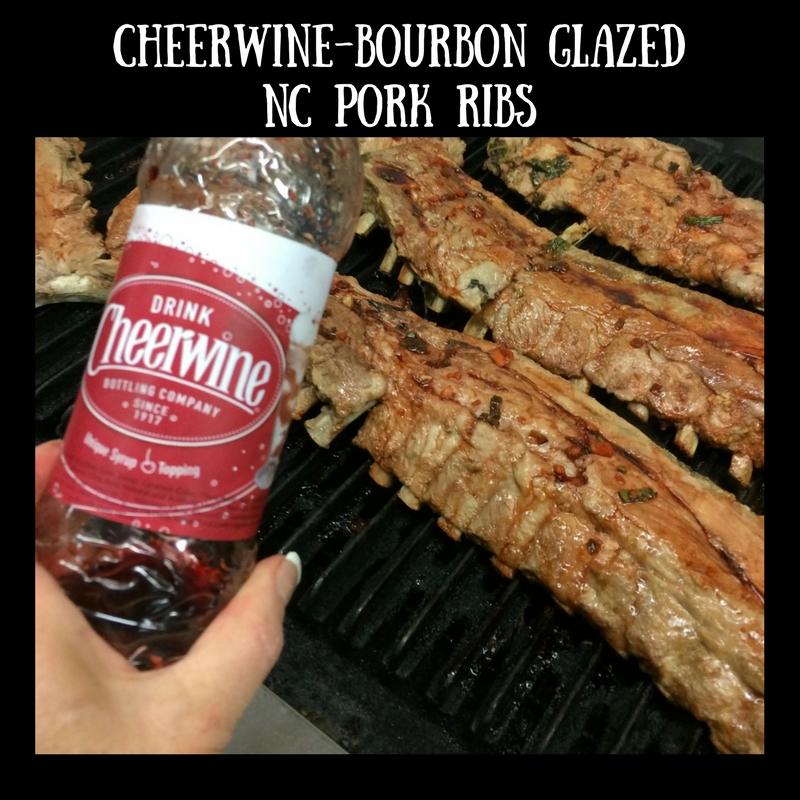 Cheerwine-Bourbon Glazed NC Pork Ribs
