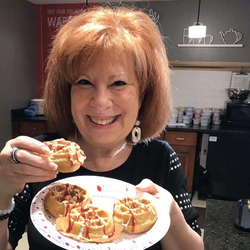 Heidi with Waffles