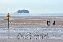 Weston-super-Mare beach and Steep Holm