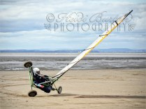 18th September 2013 - the benefit of Weston-super-Mares massive expanse of sand - great for wind sports on the beach.