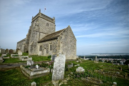 24th September 2013 - St Nicholas Church, Uphill, sat on a hill overlooking Weston and the sea. Copyright Heidi Burton ABIPP. No use without the prior consent of the photographer.