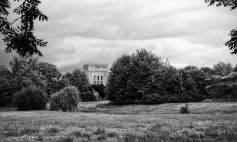 9th October 2013 - the old RAF water tower at Locking, looking towards it from the direction of the Main Gate, having walked in a little way, parallel to the main road.