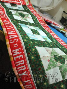 16th November 2013 - A crafty image for today - I've just finished my first ever Christmas table runner. It's a little bit american, but I kind of like it!