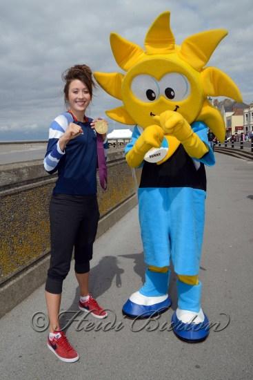 Jade Jones, Olympic Taekwondo Gold Medallist visits Sunspot Family Entertainment Centre in Burnham-on-Sea.