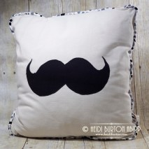 #07 Moustache! A cushion made by me, for sale in my Etsy shop #07 #366for2016