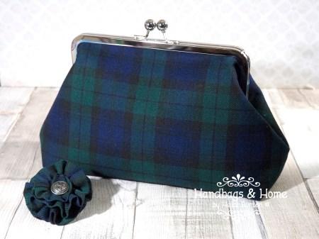 Black Watch tartan clutch bag #24