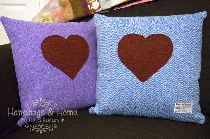Harris Tweed love heart cushions #31
