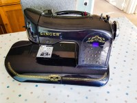 Dropped my sewing machine off for a service, it's going to be away a few days, I'm missing it already! The 1960s Brother backup will be coming out, but I don't know what's worse, my work camera going off for service or my Singer sewing machine! #singer #sewing #sewingmachine #handbagsandhome #366for2016