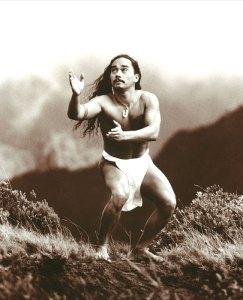 Kealii Reichel dancing the hula