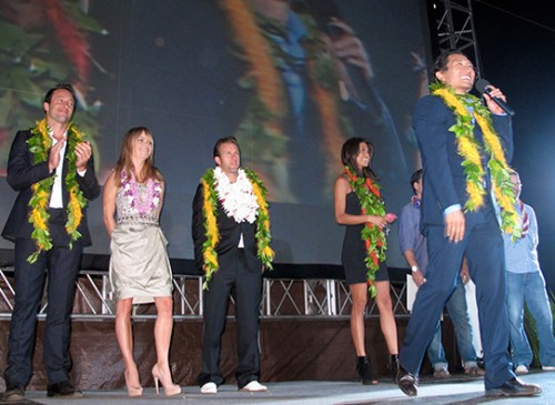 Hawaii Five-0 cast at the Hawaii Premiere | Photo by Heidi Chang