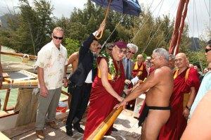 Dalai Lama on Hokulea