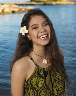 Auli'i Carvalho - Voice of Moana. Following a worldwide search to cast Moana's title character, 14-year-old Native Hawaiian newcomer Auli'i Cravalho was chosen to play the role of the spirited and fearless teenager