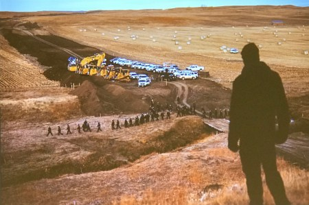 Josh Morgan photographed the Dakota Access pipeline protesters, or water protectors, as they preferred to be called, as they hiked into a construction site in the rolling hills of North Dakota.
