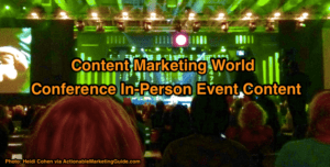 Conference In-person event content