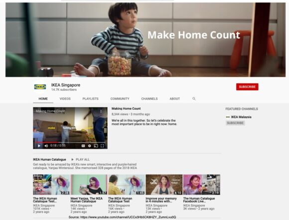 IKEA's Make Home Count YouTube example of storytelling and content marketing