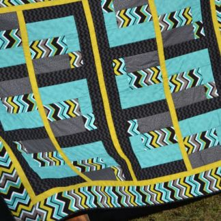 Tealy Trendy Quilt full view Heidi Ho