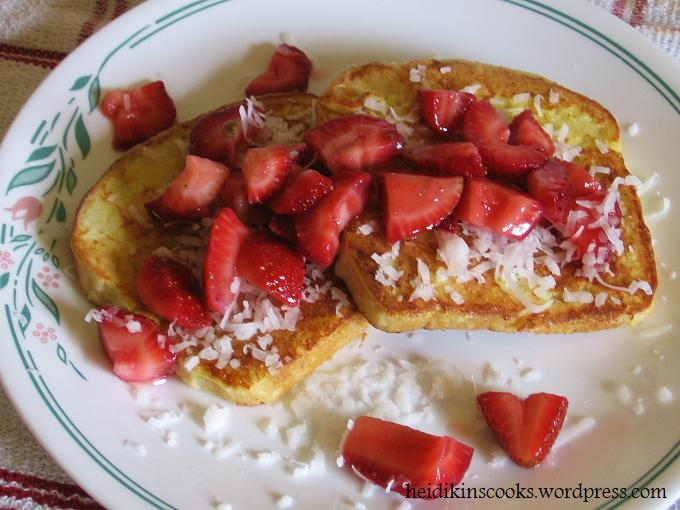 Coconut French Toast with Almond Maple Syrup_062009