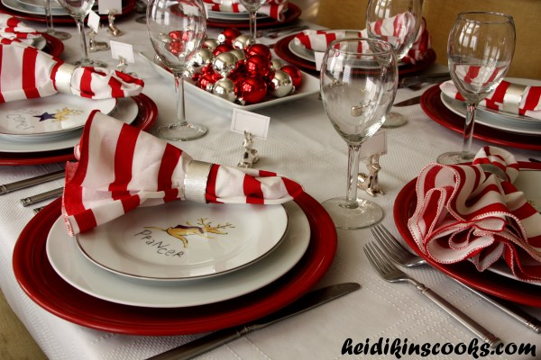 Setting Christmas Table With Pottery Barn Reindeer