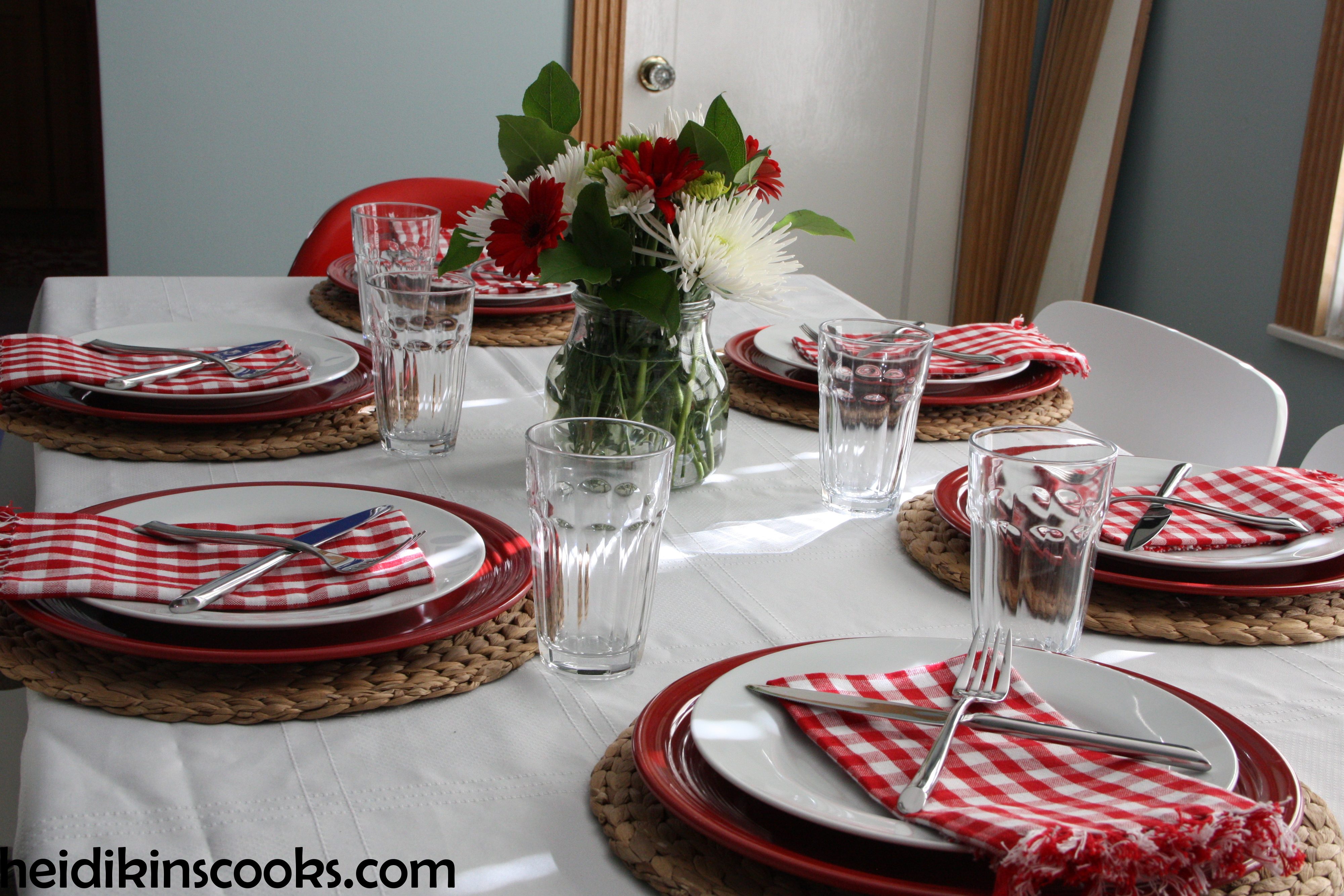 Casual Valentines Day Table Setting Heidikins Cooks