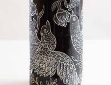 Black Birds Vase