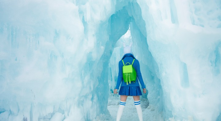 "Exploring a real life ice castle inspired by ""Adventure Time"""