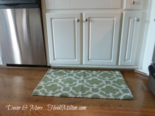 green kitchen rug led lighting seeing in my defense was literally falling apart and i knew a beautiful antique wasn t going to be budget for quite some time