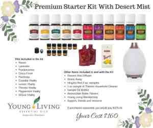Essential oil kit with diffuser