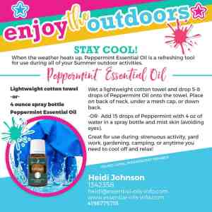 peppermint oil to stay cool