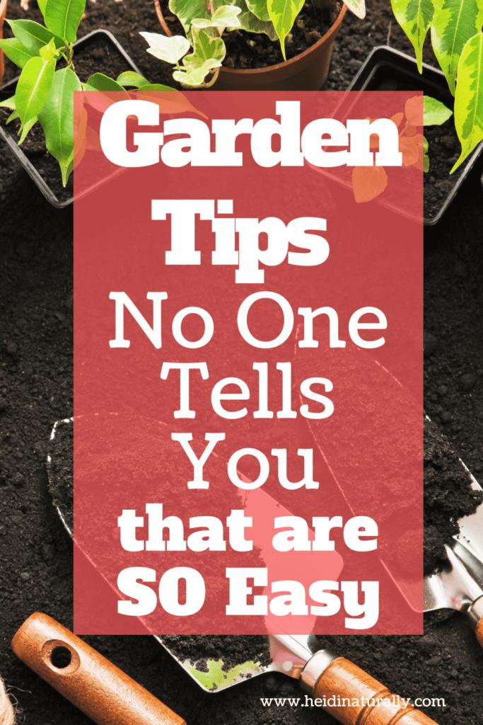 Easy garden tips for a successful garden.