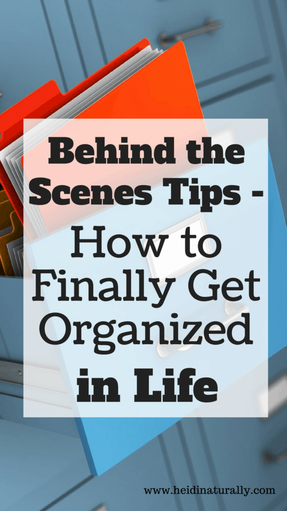Learn the behind the scenes steps to an organized life using file folders. Find out how to be better organized in life with the best organizing tips.