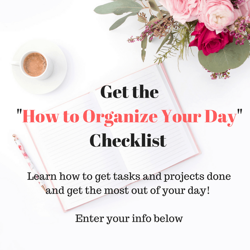 How to Organize Your Day Checklist 1