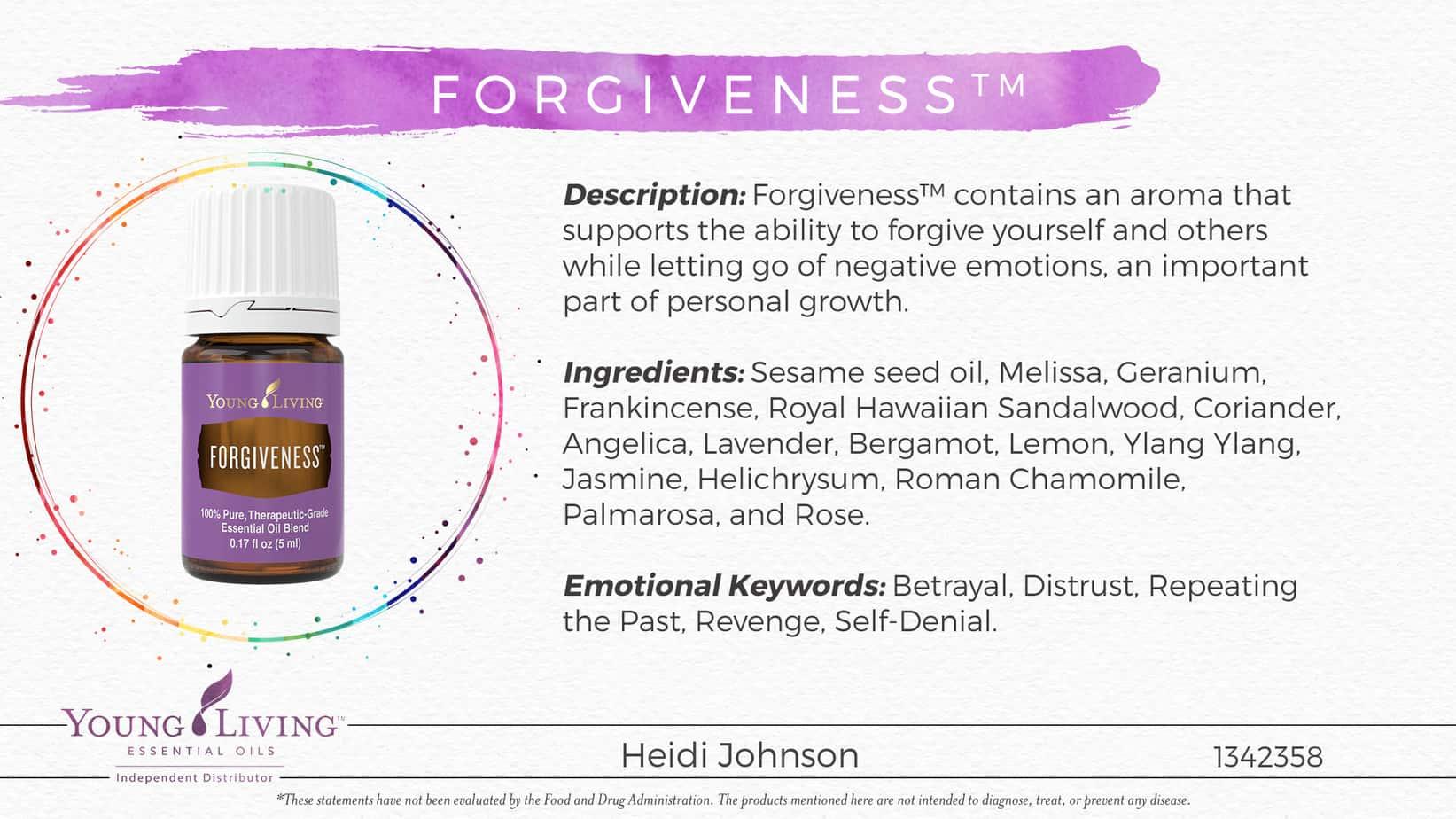 forgiveness essential oil
