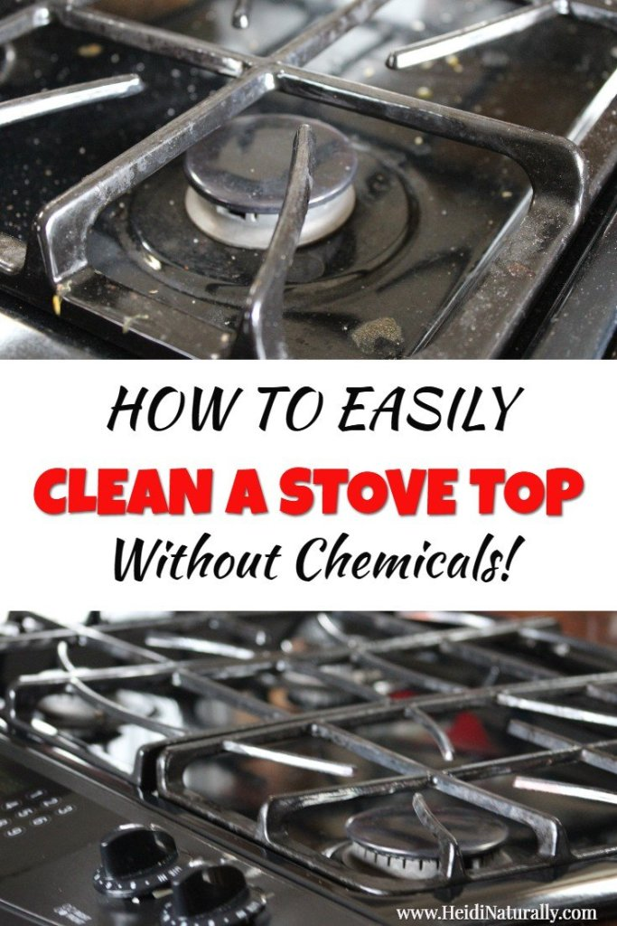 how to clean a stove top easily